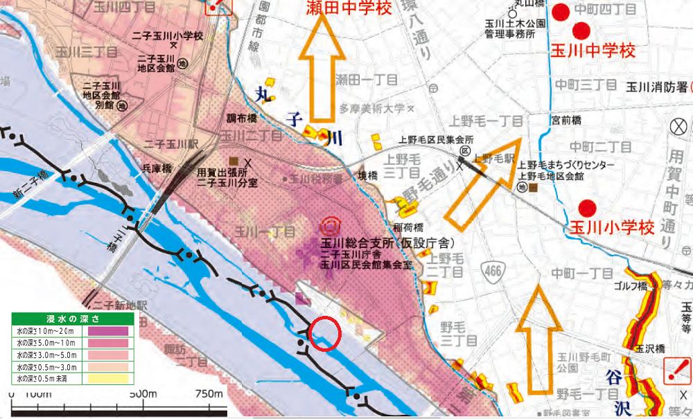 中央 東京 区 マップ 都 ハザード